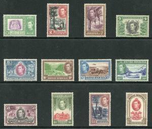 British Honduras SG150/61 1938 Set of 12 M/M