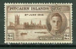 Pitcairn Is # 9  WW II 2d. Peace - Parliament Bldg. (1) Unused