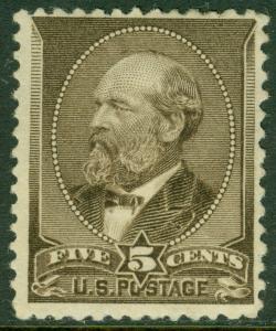 EDW1949SELL : USA 1882 Scott #205 Mint, Full Original Gum Hinged. Catalog $240.