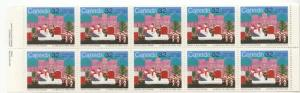 Canada USC #1070a Mint VF-NH Cat. $11. 1985 32c Christmas Pane of Ten ex Booklet