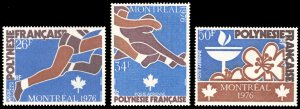 French Polynesia 1976 Scott #C134-C136 Mint Never Hinged