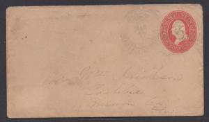 **US 19th Century Postal Stationery Cover, SC# U227, Ridge, SC, 1807-1884, DPO5