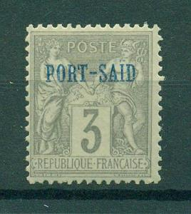 French Offices in Egypt Port Said sc# 3 mhr cat val $2.10