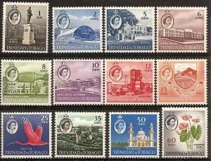 Trinidad & Tobago  89-102 Mint OG 1960 QEII Definitives