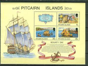 Pitcairn Is # 176a  Bounty Day - souvenir sheet (1) Mint NH