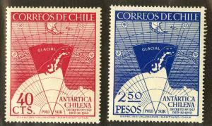 CHILE 247-248 MNH SCV $2.20 BIN $1.10 GEOGRAPHY
