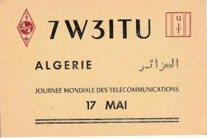 9770 Amateur Radio QSL Card ALGERS ALGERIA