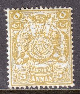 Zanzibar - Scott #86 - MH - Toning - SCV $6.00