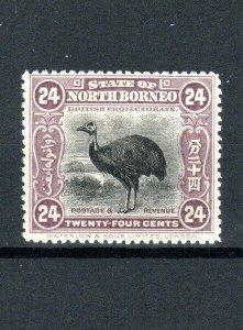 North Borneo 1909-23 24c Dwarf Cassowary MH