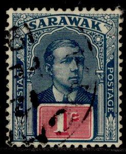 SARAWAK GV SG50, 1c slate-blue & red, FINE USED.