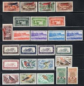 Lebanon Group of 25 Older Better Mint Stamps