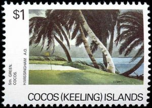 Cocos Islands #159-161, Complete Set(3), 1987, Never Hinged