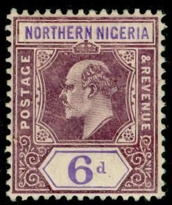 NORTHERN NIGERIA SG25a, 6d dull purple & violet, LH MINT. Cat £55.