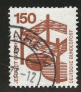 Germany Scott 1085 used stamp from 1971-1974 set
