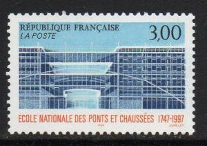 FRANCE SG3366 1997 250th ANNIV OF NATIONAL SCHOOL OF BRIDGES & HIGHWAYS MNH