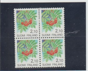 Finland  Scott#  830  MH Block of 4  (1991 Rowan)