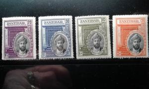 Zanzibar #214-217 mint hinged e1812.2854