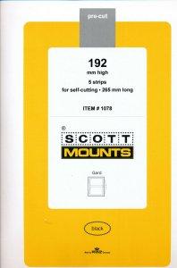 Prinz Scott Stamp Mount 192/265 mm - BLACK (Pack of 5)  (192x264  192mm)  STRIP