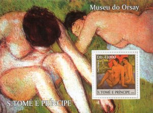Sao Tome & Principe 2004 PAUL GAUGUIN Nudes Paintings s/s Perforated Mint (NH)