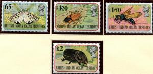 BIOT SC# 86-9 Exotic Insects of the Atoll, set, MNH