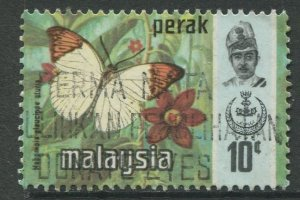 STAMP STATION PERTH Perak #150 Sultan Idris Shah Butterflies Used 1971