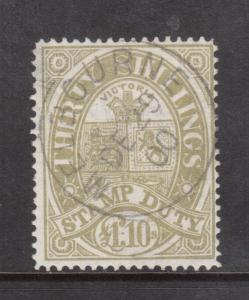 Victoria #AR22 Very Fine Used With Ideal Melbourne Dec 29 1900 CDS Cancel