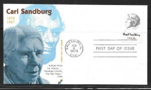 United States 1731 Carl Sandburg Spectrum First Day Covers, FDC (z7)