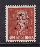 Netherlands  New Guinea  #B2  MH   1953   flood relief  15c
