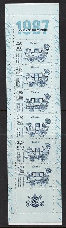 France 19 87 Stamp Day Booklet VF MNH (B591a)