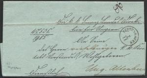HUNGARY 1851 folded official letter ex FESTUNGOFEN.........................10440
