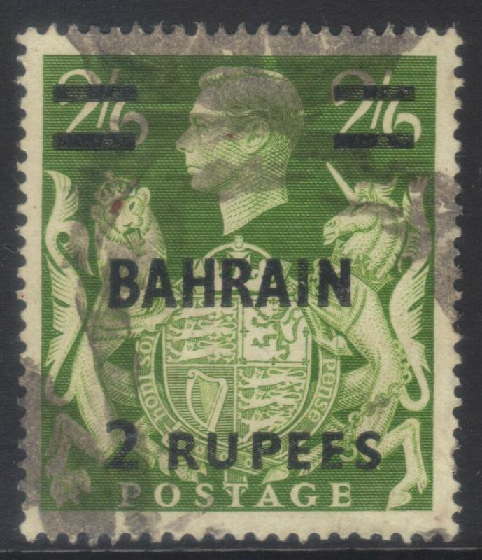 BAHRAIN 1948-1949 SURCH SG59 USED