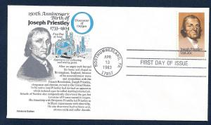 UNITED STATES FDC 20¢ Joseph Priestley 1983 Aristocrat