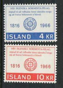 Iceland #386-7 MNH (Box1)