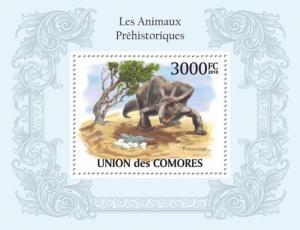 COMORES 2010 SHEET PREHISTORIC ANIMALS DINOSAURS ANIMAUX PREHISTORIQUES cm10106b