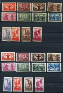 Romania 1945 Sc B292-03 Mi 885-96 MNH 2 sets White&Grayish paper CV €300 r1373s