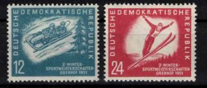 East Germany (DDR) - SGE37-E38 mint, winter sports - CV £28 ($35.80)