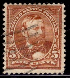 US Stamp #270 5c Chocolate Grant USED SCV $3.50
