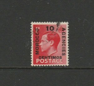 Morocco Agencies 1936/7 EDV111 10c on 1d Used SG 161