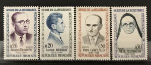 France 1961 #990-3, MNH, CV $3.80