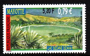 Mayotte MNH Scott #156 5.20fr Lake Dziani Dzaha