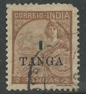 Portuguese India # 459 DaGama Flagship surcharged  (1) Used