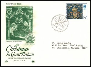 Great Britain 798 Christmas PCS Artcraft Variety Typed FDC