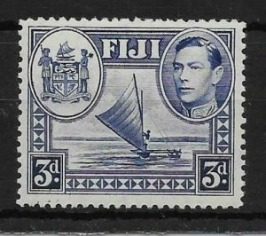 FIJI SG257a 1938 3d BLUE SPUR ON MEDALLION VAR MTD MINT