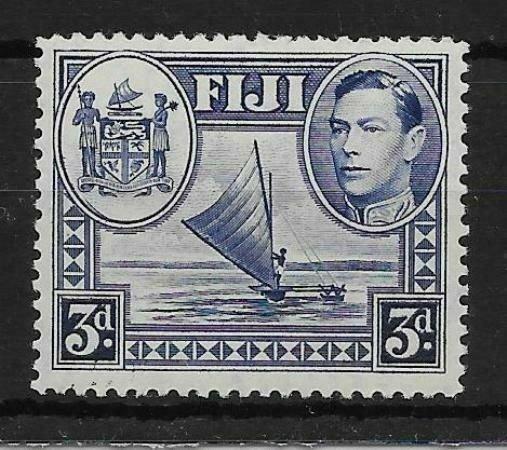 FIJI SG257a 1938 3d BLUE SPUR ON MEDALLION VAR MTD MINT