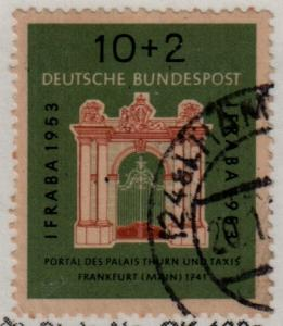 Germany Used Semi-postal #B332 Thurn and Taxis Palace