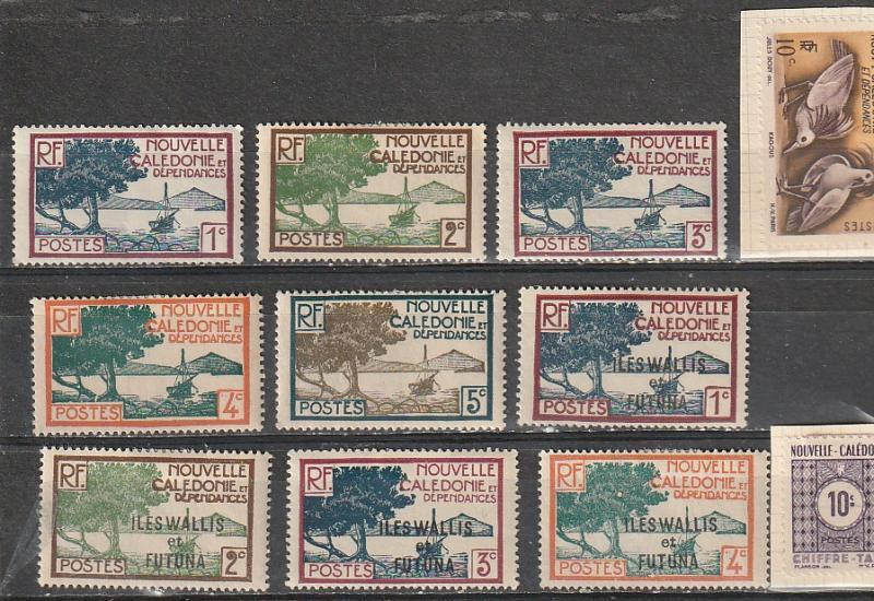 #136-139,276 J32 New Caledonia Mint OGH & 43-46 Wallis & Fortuna Mint OGH
