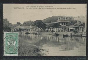 MARTINIQUE FRENCH COLONY (P2612B) PPC TO CZECHOSLOVAKIA