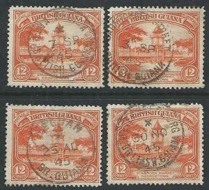 BR GUIANA 1940s pmks of LEGUAN, ANNA REGINA, METENMEERZORG, CARMICHAEL ST..43559