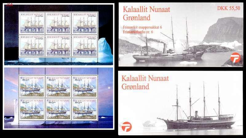 Greenland 1998 Exploration Ships Booklets Sc 338a, 339a  Pristine! Cat $21++