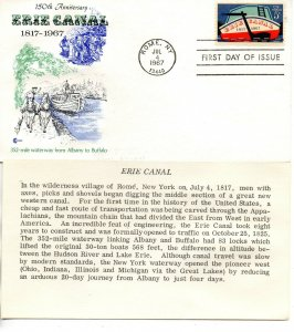 US FDC #1325 Erie Canal, Cover Craft (6589)